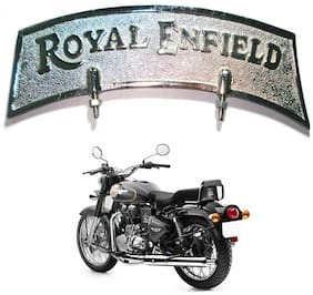 Capeshoppers Royal Enfield Silver Color Logo For Front Mudguard For Twinspark 350