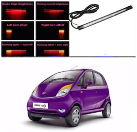 Capeshoppers Car Daytime Running Light (DRL)Red with flash For Tata Nano