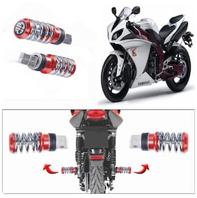 Capeshoppers Spring Coil Style Bike Foot Pegs Set Of 2 For Yamaha YZF-R1-Red