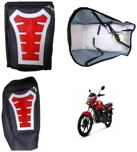 Capeshoppers Utility Big Tank bag Red For Honda Unicorn
