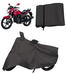 Capeshoppers Bike Body Cover Grey For Hero Motocorp Hunk Single Disc