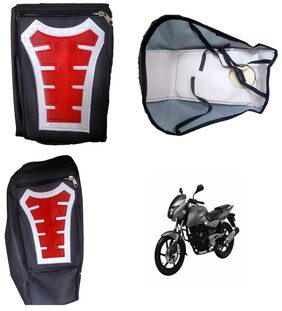 Capeshoppers Utility Big Tank bag Red For Bajaj PULSAR DTSI