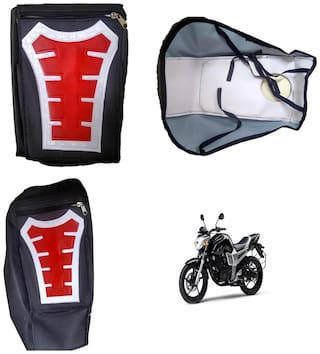 Capeshoppers Utility Big Tank bag Red For Yamaha FZ-16