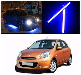 Capeshoppers Car Daytime Running Light (DRL)Blue For Nissan Micra