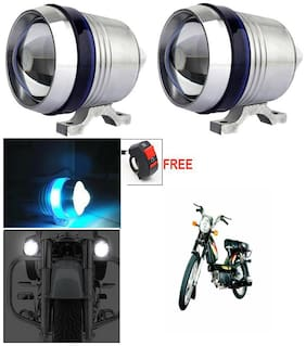 Capeshoppers U3 Headlight Fog Lamp With Lens Cree Led For Bajaj BOXER