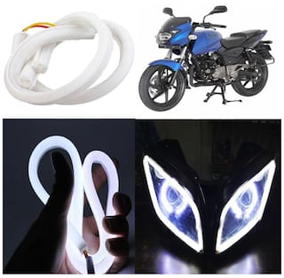 Capeshoppers Flexible 30Cm Audi / Neon Led Tube For Bajaj Pulsar 180CC DTS-i -White
