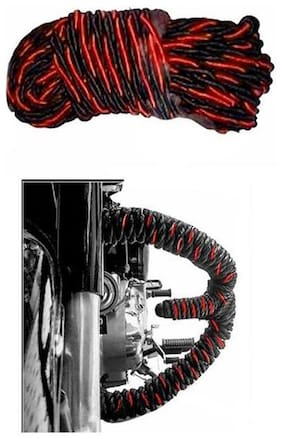 Capeshoppers leg guard rope red and black For Royal Enfield Thunder Bird 350