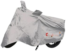 Capeshoppers New Advance Bike Body Cover Silver For Yamaha YBX