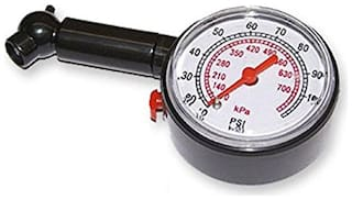 Capeshoppers Analog Tyre Gauge For Hero MotoCorp CBZ EX-TREME Double Seater