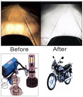 Capeshoppers M6 High Power Led Headlight Hid For Bikes For Hero MotoCorp SPLENDER