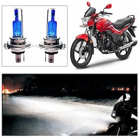 Capeshoppers - Xenon Cyt White Headlight Bulbs For Hero Motocorp Passion Pro Tr Set Of 2