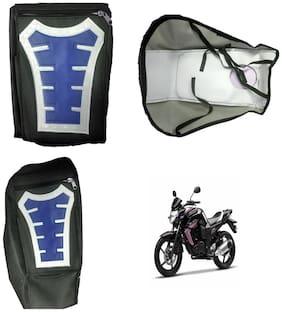 Capeshoppers Utility Big Tank bag Blue For Yamaha FZS