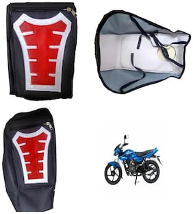 Capeshoppers Utility Big Tank bag Red For Bajaj XCD 125CC