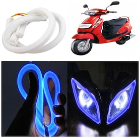 Capeshoppers Flexible 30Cm Audi / Neon Led Tube For Mahindra Duro Dz Scooty -Blue