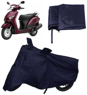 Capeshoppers Bike Body Cover Blue For Yamaha Alpha Scooty