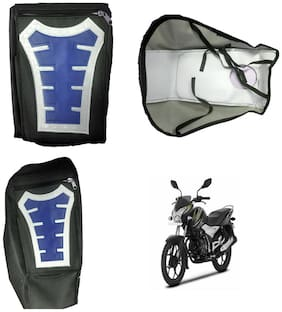 Capeshoppers Utility Big Tank bag Blue For Bajaj Discover 100 M Disc