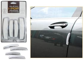 Capeshoppers Simple White Car Door Scratch Guard Protector (Set of 4) For Honda City 2014