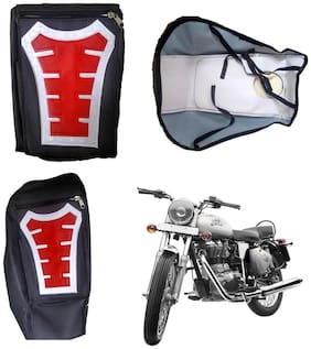 Capeshoppers Utility Big Tank bag Red For Royal Enfield Thunder Bird 350