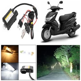 Capeshoppers 6000k Hid Xenon Kit For Yamaha Ray Scooty