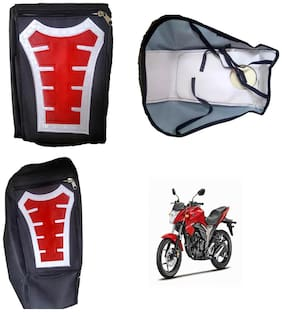 Capeshoppers Utility Big Tank bag Red For Suzuki Gixxer 150
