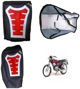 Capeshoppers Utility Big Tank bag Red For Yamaha RX 100