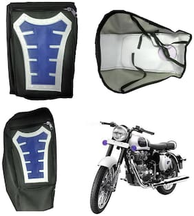 Capeshoppers Utility Big Tank bag Blue For Royal Enfield BULLET 500