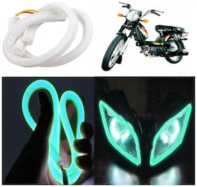 Capeshoppers Flexible 30Cm Audi / Neon Led Tube For TVS Super Xl S/S -Green