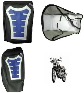 Capeshoppers Utility Big Tank bag Blue For TVS Apache RTR 160
