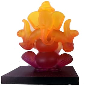 Capeshoppers car dashboard yellow Double Ganesha for universal