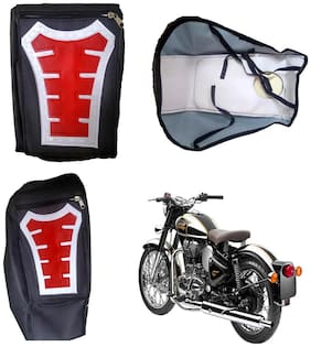 Capeshoppers Utility Big Tank bag Red For Royal Enfield BULLET 350