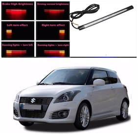 Capeshoppers Car Daytime Running Light (DRL)Red with flash For Maruti Suzuki Swift 2012