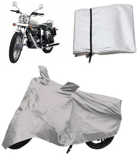 Capeshoppers Bike Body Cover Silver For Royal Enfield Bullet Electra Standard