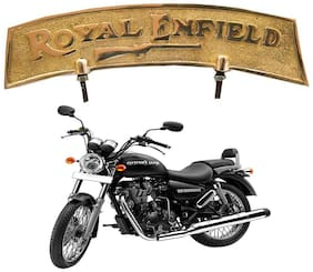 Capeshoppers Royal Enfield  Golden Color Logo For Front Mudguard For THUNDERBIRD