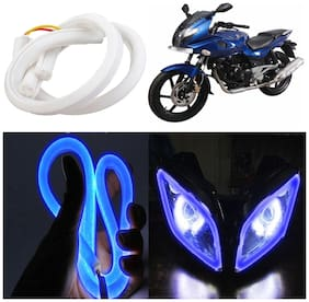 Capeshoppers Flexible 30Cm Audi / Neon Led Tube For Bajaj Pulsar 200Cc Double Seater -Blue