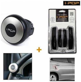 Capeshoppers Door Edge Scratch Guard Combo & I-Pop Steering Knob For Audi A3