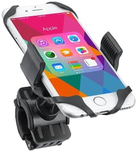 Capeshoppers Bike Mount;Bicycle Motorcycle Handlebar Mount Cell Phone Holder Cradle Adjustable For Hero MotoCorp HF Deluxe Eco