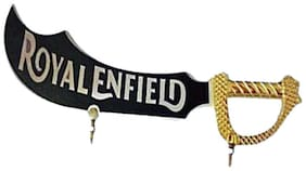 Capeshoppers Golden sword logo Front Mudguard For Royal Enfield Classic Chrome