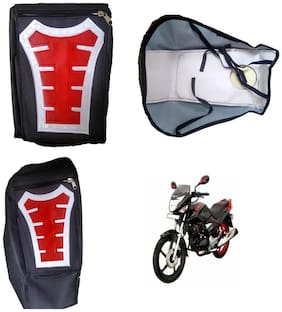 Capeshoppers Utility Big Tank bag Red For Hero MotoCorp CBZ