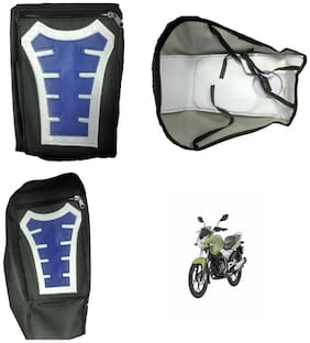 Capeshoppers Utility Big Tank bag Blue For Bajaj Discover 125 New