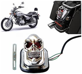 Capeshoppers Rear Customized Skull Brake Tail Light For Bajaj Avenger