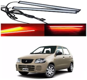 Capeshoppers Car Daytime Running Light (DRL)Red For Maruti Suzuki Alto Old