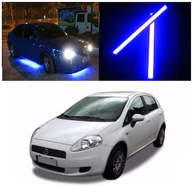 Capeshoppers Car Daytime Running Light (DRL)Blue For Fiat Punto