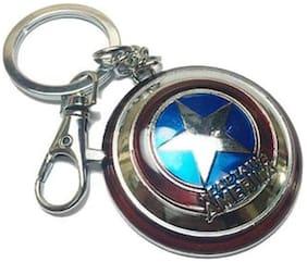 Captain american shield keychain