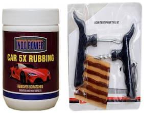 CAR 5X RUBBING 500 g+ Tubelass smart Panchar Kit.