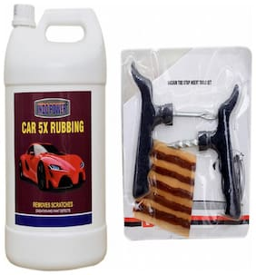 CAR 5X RUBBING 5kg+ Tubelass smart Panchar Kit.