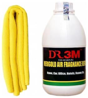 CAR AIR FRAGNANCE- MARI GOLD 500ml.+ CAR MICROFIBER CLOTH (YELLOW )