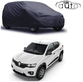 ABS AUTO TREND  Grey Matty Car Cover for  Renault Kwid with Triple Stitched and Elastic Hem Around The Bottom