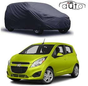 ABS AUTO TREND  Grey Matty Car Cover for  Chevrolet Spark with Triple Stitched and Elastic Hem Around The Bottom
