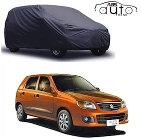 ABS AUTO TREND  Grey Matty Car Cover for  Maruti Suzuki Alto K-10 with Triple Stitched and Elastic Hem Around The Bottom