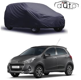ABS AUTO TREND  Grey Matty Car Cover for  Hyundai Grand I-10 with Triple Stitched and Elastic Hem Around The Bottom